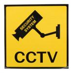 12 X 12 Cm Övervakning Övervakningskamera CCTV Varning Skylt Säkerhetssystem & Övervakning