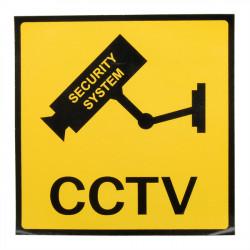12 X 12 Cm Övervakning Övervakningskamera CCTV Varning Skylt