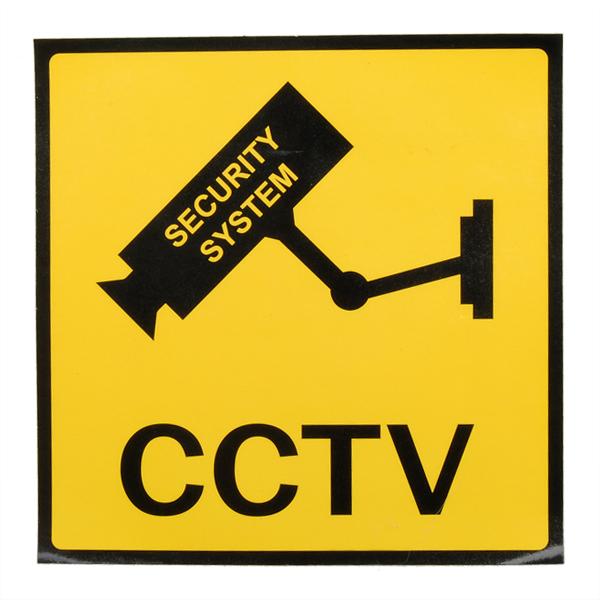 12 x 12cm Überwachung Überwachungskameras CCTV Warnzeichen Sicherheitssystem & Überwachung