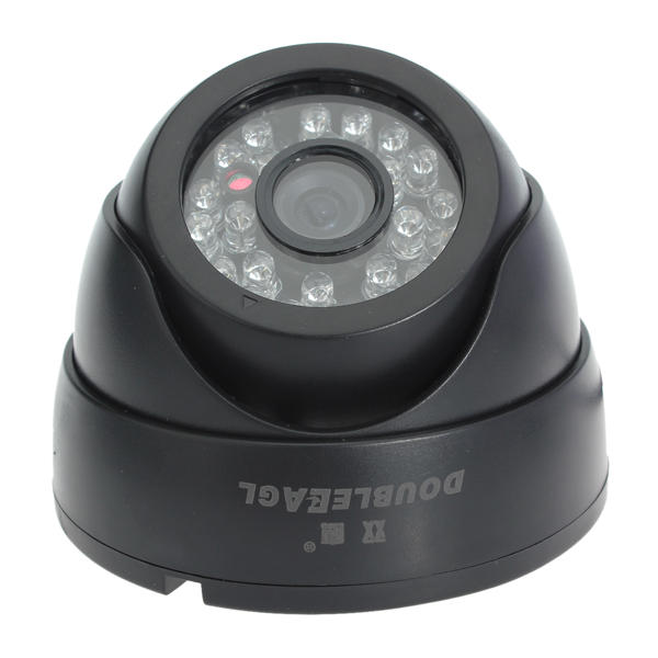 1/4 CCD Sharp Digital Dome Color IR Security Camera Black L2381 Security System & Protection