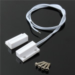1 Set Recessed Door Window Contacts Magnetic Reed Security Alarm Switch Screws Security System & Protection