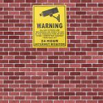 200 x 250 mm Überwachung Überwachungskameras Videoüberwachung Warnzeichen Sicherheitssystem & Überwachung