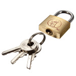 20mm Suitcase Locker Toolbox Brass Padlock Long Shackle keys Security System & Protection