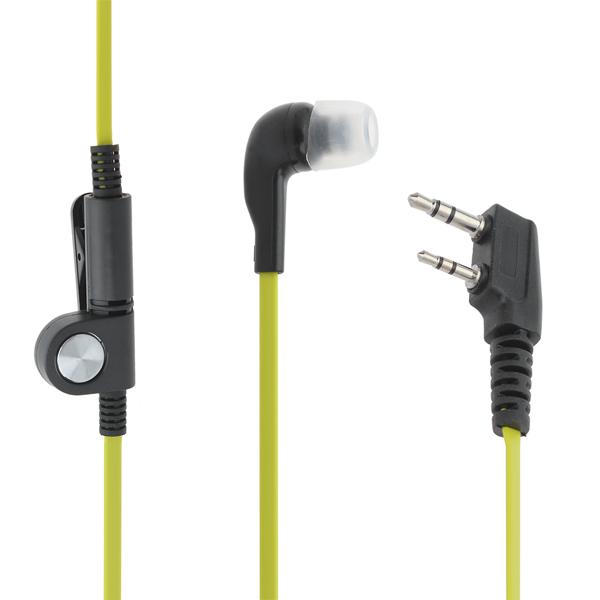 2.5mm In-Ear Hörlurar för K-Connector Walkie Talkie Grön + Svart Säkerhetssystem & Övervakning