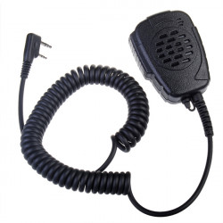 2 PIN Højttaler Sort Cool Mic for Series Radio Walkie Talkies