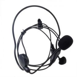 2Pin Boom Mic Headphone Speaker for Series Walkie Talkies