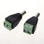 2 Stück 5,5 x 2,1 mm DC Strom Männlich Jack Steckverbinder für CCTV Kameras Sicherheitssystem & Überwachung