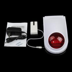 315 / 433MHz Trådlös Blinkande Siren Hem Säkerhet Alarm System