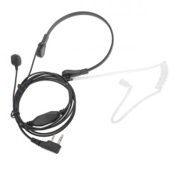 3.5mm Neckband Anti-noise PTT Headphone Microphone for Walkie Talkie