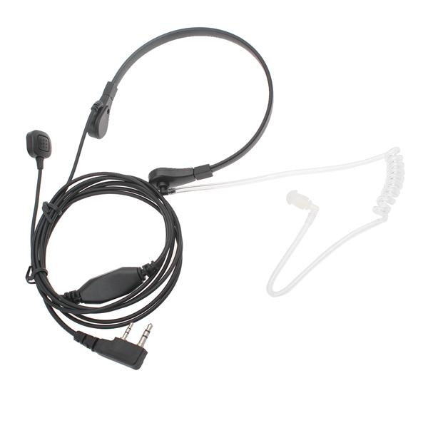 3.5mm Nack Anti-brus PTT Hörlurar Mikrofon för Walkie Talkie Säkerhetssystem & Övervakning