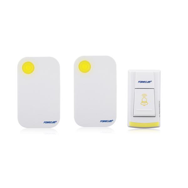 36 Musik Drahtlos Gelb Türklingel 1 Remote Button Control 2 Empfänger Sicherheitssystem & Überwachung