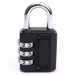 3 Dial stellige Kombination aus Metall Turnhalle sperren Gepäcktasche Passwort Padlock