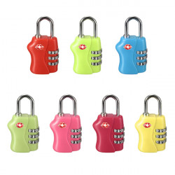 3 Rows Digital TSA Combination Security Password Padlock