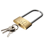 40mm Suitcase Locker Toolbox Brass Padlock Long Shackle keys Security System & Protection