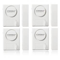 4pcs Doberman Wifi Window Door Magnetic Sensor Burglar Entry Security Alarm