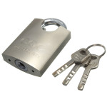 50mm Heavy Duty High Security Solid Lock Stainless Steel Shackle Padlock 3 Keys Security System & Protection