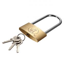 50mm Suitcase Locker Toolbox Brass Padlock Long Shackle keys