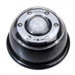 6 LED Lampor PIR Sensor Rörelsedetektor Lampa Svart