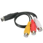 7 Pin S-video till 3 RCA-komponentkabel för PC DVD HDTV Säkerhetssystem & Övervakning