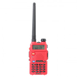 BAOFENG UV 5R Red 136 174 / 400 480MHz Dualband UHF / VHF Funksprechgerät