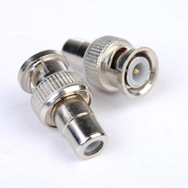 BNC till RCA Hona Coax Kabel Kontakt Adapter för CCTV Kamera Säkerhetssystem & Övervakning