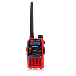 Baofeng UV-5RA Röd Dual Band Transceiver Radio Walkie Talkie