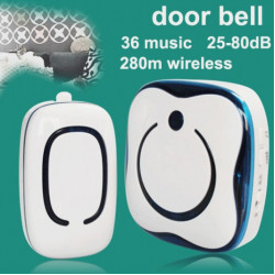 CACAZI 9809 36 Melody Chime US Plug Wireless Doorbell Alarm