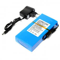 DC 12V 12000mAh Super Rechargeable Protable Lithium-ion Battery EU Plug