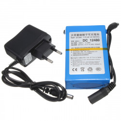 DC 12V 4800mAh Super Rechargeable Portable Lithium-ion Battery Pack