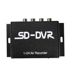 Dual Stream 1CH SD-kort Mini CCTV DVR Video Recorder med RS485