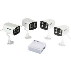 ESCAM QD300 Brick 4 Indstiller IP IR-CUT Kameraer + K104 Mini NVR