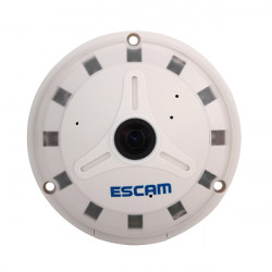 ESCAM QP130 Fish Eye 360 Degree 1.3MP IR-Cut H.264 Onvif P2P Day/Night Support Mobile APP SD Card Security IP Camera