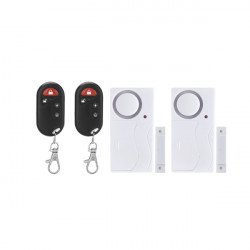 FK-9806 2 Pairs Wireless Smart Home Magnetic Sensor Security Alarm