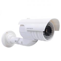 Fake Dummy Surveillance IR LED Imitation Overvågningskamera Silver