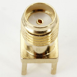 Golden Copper SMA Female Jack Center PCB Solder RF Connector