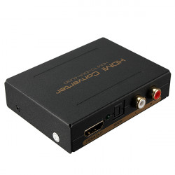 HDMI to HDMI & Optical SPDIF + RCA L/R Audio Extractor Converter