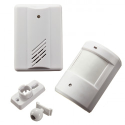 Infrarød Trådløs Dørklokke Alarm System Motion Sensor med Modtager