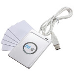 NFC ACR122U RFID Beröringsfria Smarta Reader + 5st Mifare IC-kort Säkerhetssystem & Övervakning