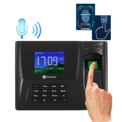 REALAND TFT Fingerprint Time Recorder Clock Check Employee Time Attendance