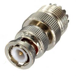 SO239 UHF Buchse auf BNC Stecker Hochfrequenz Koaxial Adapter Verbindungs