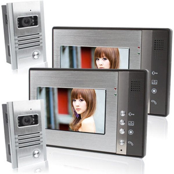 SYSD 7inch Farb Video Türsprechanlage Haus Intercom Türklingel SY802MB22 Sicherheitssystem & Überwachung