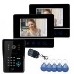 SYSD SY811MJIDS12 Video Türsprech Touch Panel Türschloss RFID Keyfobs Sicherheitssystem & Überwachung