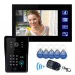 SYSD Touch Key LCD Video Dørtelefon IR Kamera & Kode Tastatur Sikkerhedssystem & Overvågning