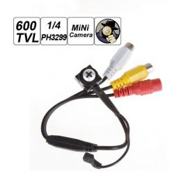 Skruva Head 600TVL Mini Övervakningskamera för Säkerhet Övervakning