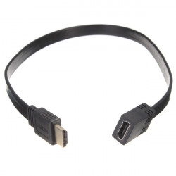 Short Flat HDMI Extension Lead Female Jack to Male Plug Cable Wire For HDTV