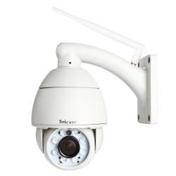 Sricam AP004 720P 5x Optisk Zoom PTZ Wifi IP-kamera CCTV Dome Kamera