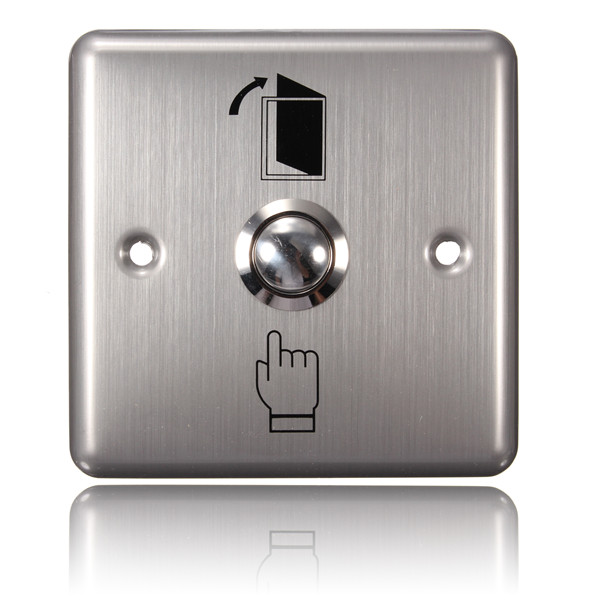 Stainless Steel Door Access Panel Exit Push Release Button Switch Security System & Protection