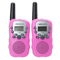 T 388 0,5 W UHF Auto Multi Channels Mini Radios Walkie Talkie Rosa