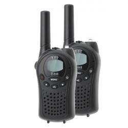 T-688 0.5W UHF Auto Channels Mini Radios Walkie Talkie Pair Black
