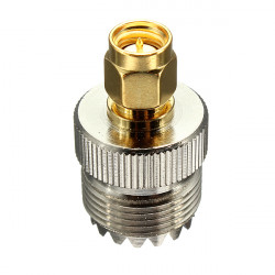 UHF Hona SO239 Jack till SMA Hane Plugg Straight Adapter